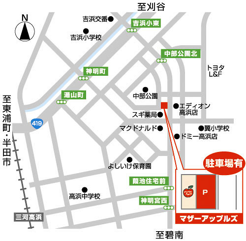 マザーアップルズ・イラスト・地図
